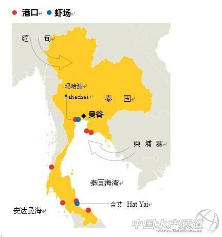 泰国主要旅游城市地图